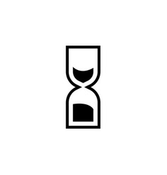 sand clock hourglass icon signs and symbols can vector image