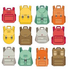 Schoolbag flat bag for school vector