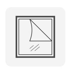 Screen blind icon vector