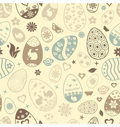 Seamless pattern easter eggs vector
