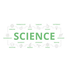 set science and research thin line vector image