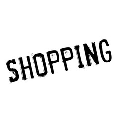 Shopping rubber stamp vector