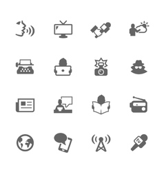 Simple News Icons vector