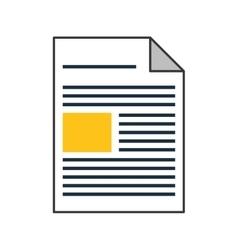 single document icon vector image