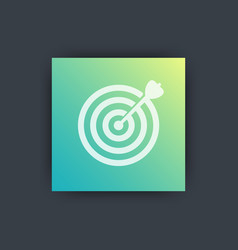 target with arrow icon achieving goal vector image
