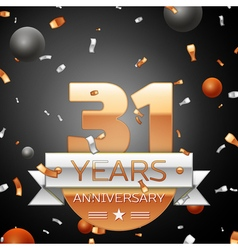 Thirty one years anniversary celebration vector