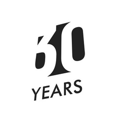 thirty years emblem template anniversary vector image