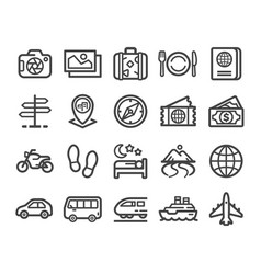 Travel line icon vector