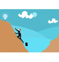 Try and get new ideas vector image