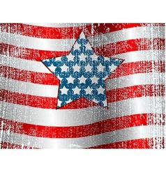 usa flag theme grunge background vector image vector image