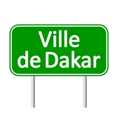 Ville de Dakar road sign vector image