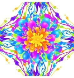 Vivid colors paint splashes background vector