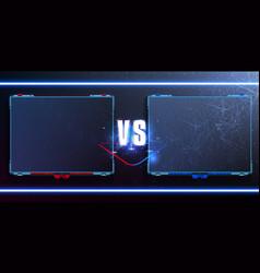 Vsversus futuristic design battle headline vector
