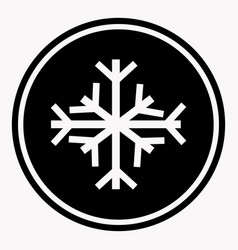 Warning and danger sign of snow attention symbol vector
