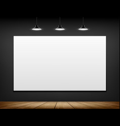 white blank screen on the wall vector image