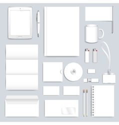 White blank set of corporate identity vector image