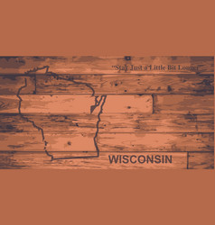 Wisconsin map brand vector