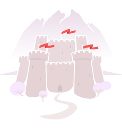 castle in the mountains vector image