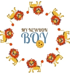 Child Baby Cute little lion Newborn boy vector image vector image