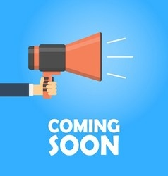 Coming soon banner vector image