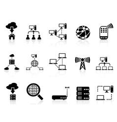 computer communication icons set vector image