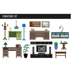 home and office furniture chair table desk and vector image vector image