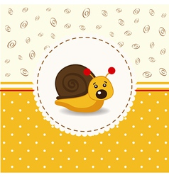 little snail baby vector image vector image