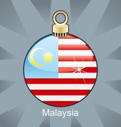 Malaysia flag on bulb vector image vector image