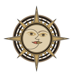 Sun and moon sign vector image