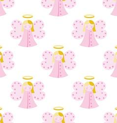 Cute angel seamless pattern vector