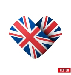 Flag icon in the form of heart I love United vector image