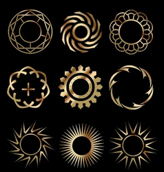 Gold design elements 1 vector image vector image
