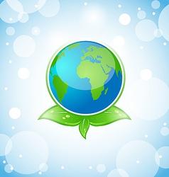 Green Earth Eco Concept vector image vector image