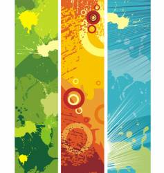 grunge banners vector image vector image