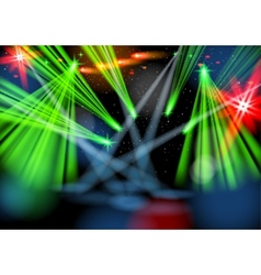 Illuminated empty stage Light show vector image