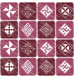 Seamless background with Celtic geometric ornament vector image