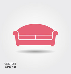 sofa flat icon vector image