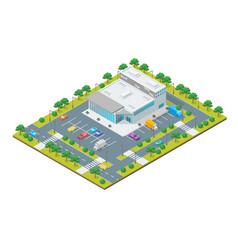 supermarket or shop building concept 3d isometric vector image