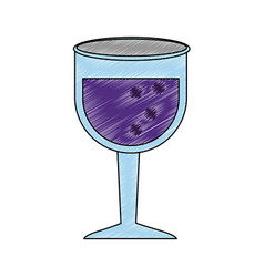 Wine cup glass vector
