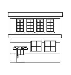 cartoon building grocery store facade vector image