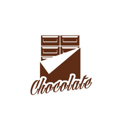 Chcollate bar in wrapper dessert icon vector