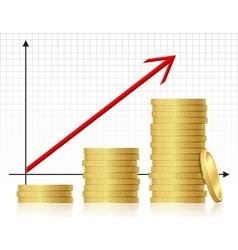 Financial success concept vector image vector image