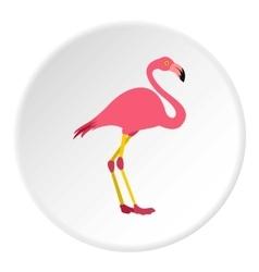 Flamingo icon flat style vector image vector image