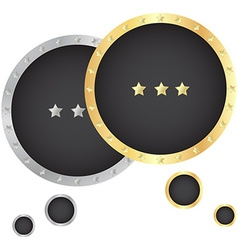 gold and silver bubble for a chat with a black vector image vector image