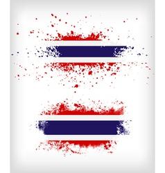 Grunge thai ink splattered flag vector
