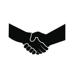 Handshake black simple icon vector image