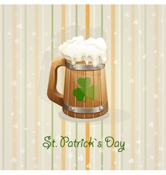 St Patricks Day background with a mug vector image vector image