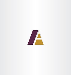 logotype business logo letter a a sign vector image vector image