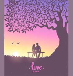 lovers color vector image vector image