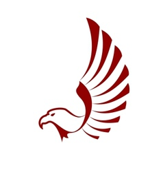 Red eagle with wings vector image vector image